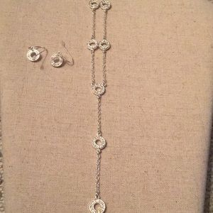 Matching earrings and necklace